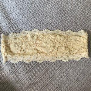 Cream Colored Bandeau Bra